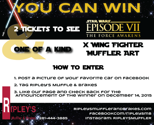 Star Wars X-Wing Muffler Art Prize for Facebook Contest