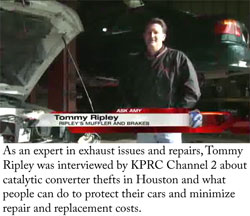 Ripley's Muffler and Brakes on Channel 2 News | Ripley's Total Car Care